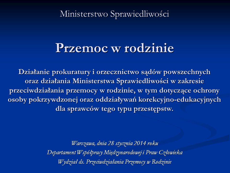 Nowe podstawy do orzekania programów oddziaływań korekcyjno-edukacyjnych a)Zmiana w Kodeksie karnym (nowelą do ustawy o przeciwdziałaniu przemocy w rodzinie – od 1.08.2010 roku) – art.