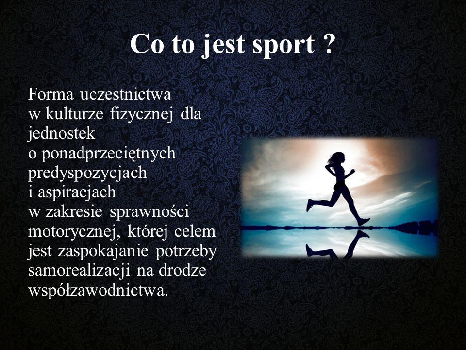 Co to jest sport .