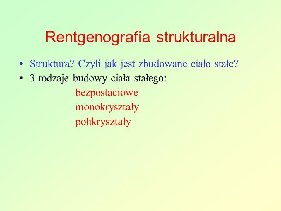 Rentgenografia strukturalna Struktura.Czyli jak jest zbudowane ciało stałe.