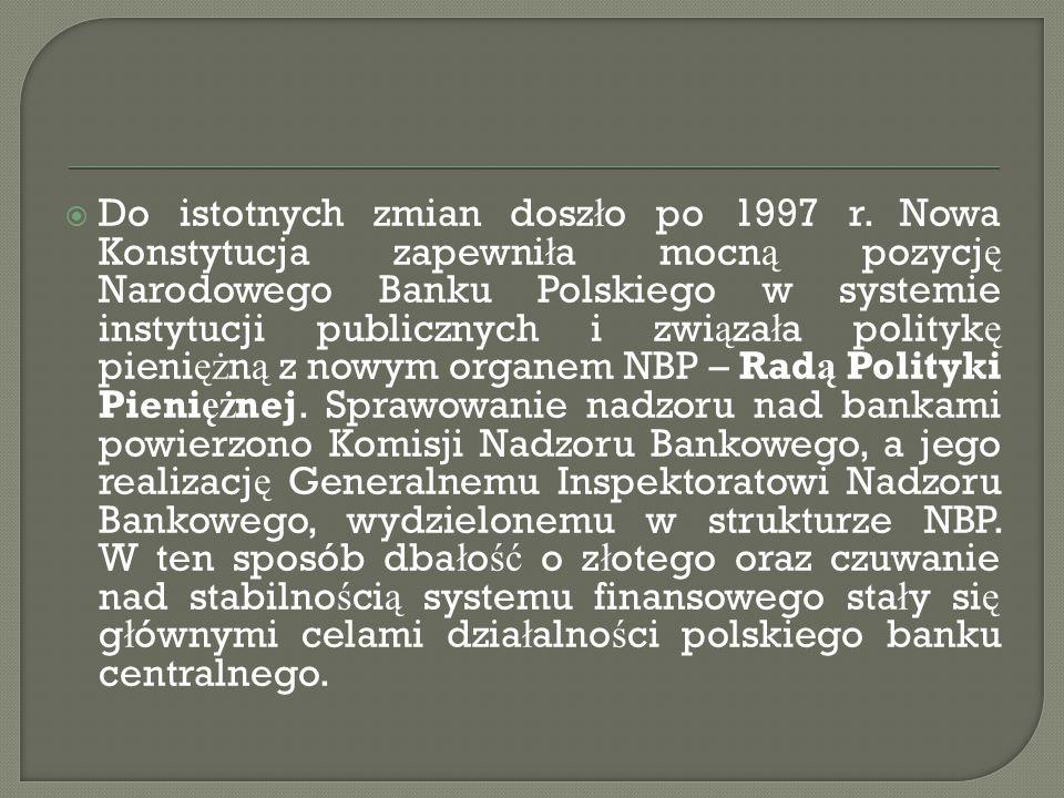  1 stycznia 1995 NBP przeprowadzi ł denominacj ę z ł otego