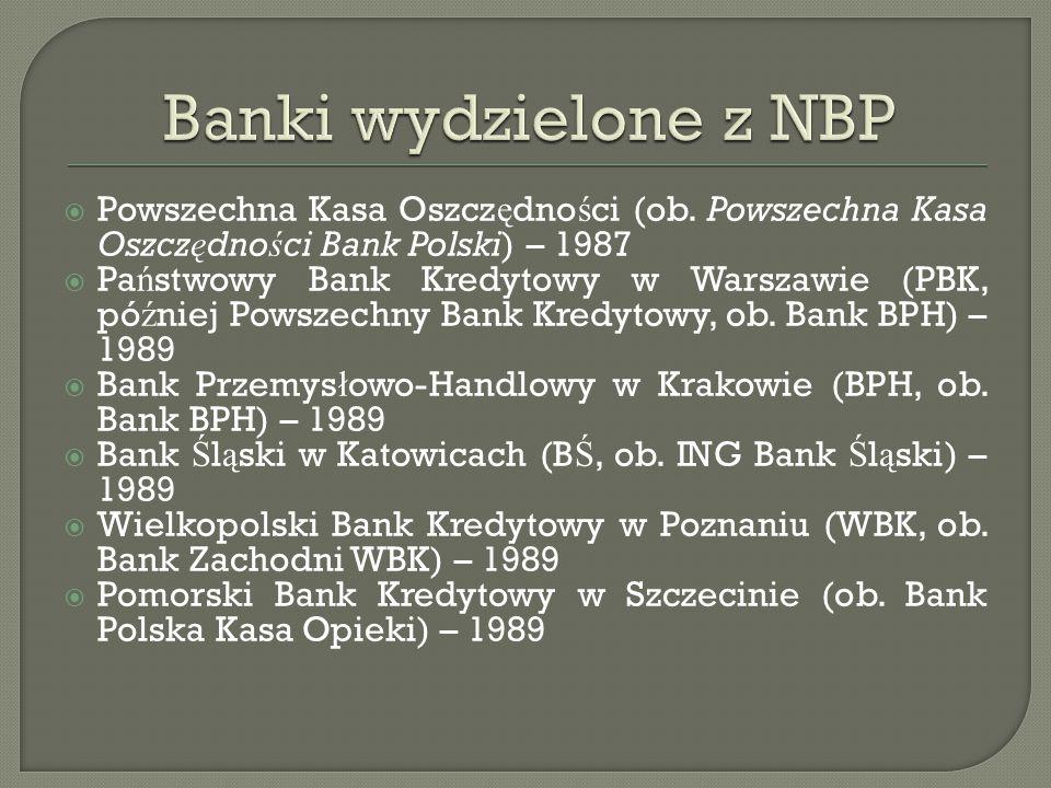 Narodowy Bank Polski rozpocz ął dzia ł alno ść w 1945, zast ę puj ą c ówczesny Bank Polski Spó ł ka Akcyjna.