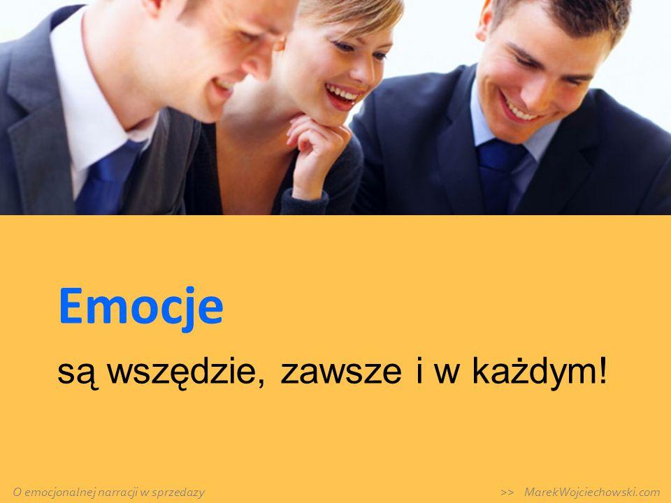 Emocje są wszędzie, zawsze i w każdym! O emocjonalnej narracji w sprzedazy >> MarekWojciechowski.com