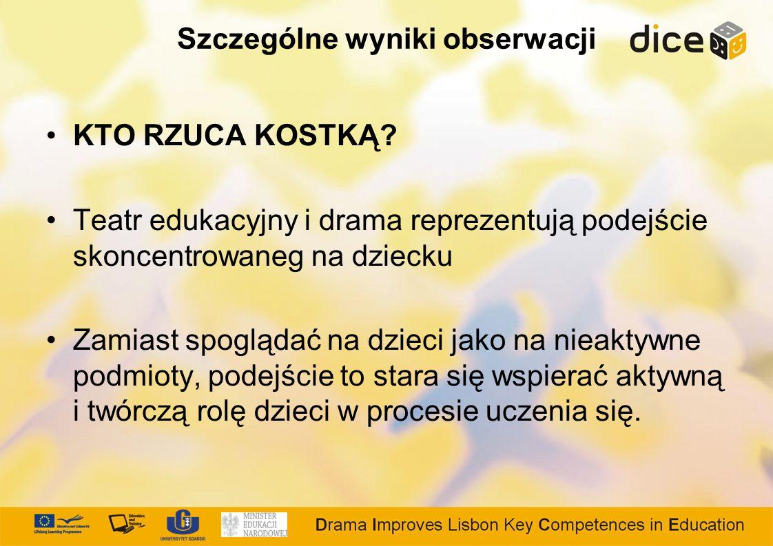 Szczególne wyniki obserwacji KTO RZUCA KOSTKĄ.