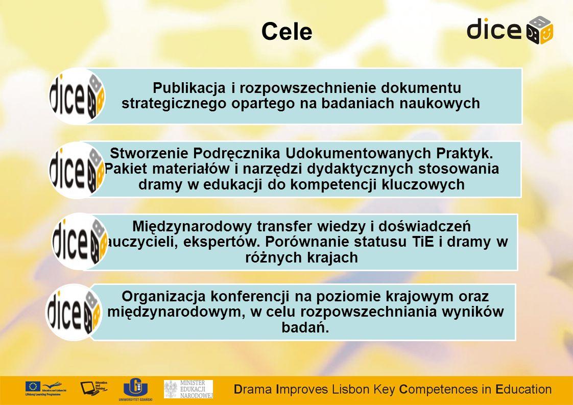 Cele Publikacja i rozpowszechnienie dokumentu strategicznego opartego na badaniach naukowych Stworzenie Podręcznika Udokumentowanych Praktyk.