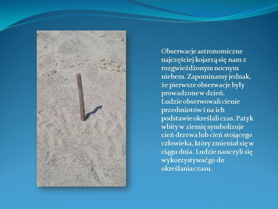Jednym z pierwszych przyrządów służących do wyznaczania czasu był gnomon, wynaleziony prawdopodobnie przez Chińczyków około 2500 r.