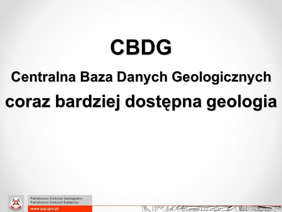 www.pgi.gov.pl Państwowy Instytut Geologiczny Państwowy Instytut Badawczy Dane 1/5 Aktualność czasu rzeczywistego: Kontury złóż, osuwiska, różnego typu monitoringi dotyczące np.