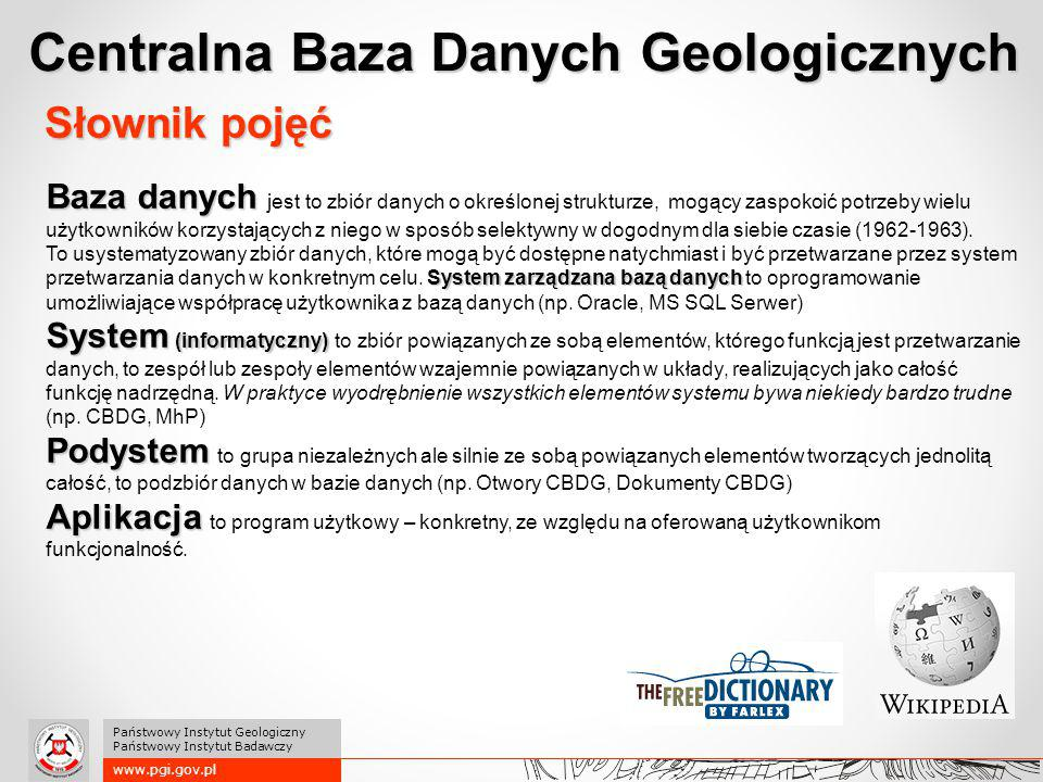 1994 – inicjatywa utworzenia CBDG 1996 – powołanie CBDG przy Centralnym Archiwum Geologicznycm 2014 – Centrala + Współpracownicy w 6.