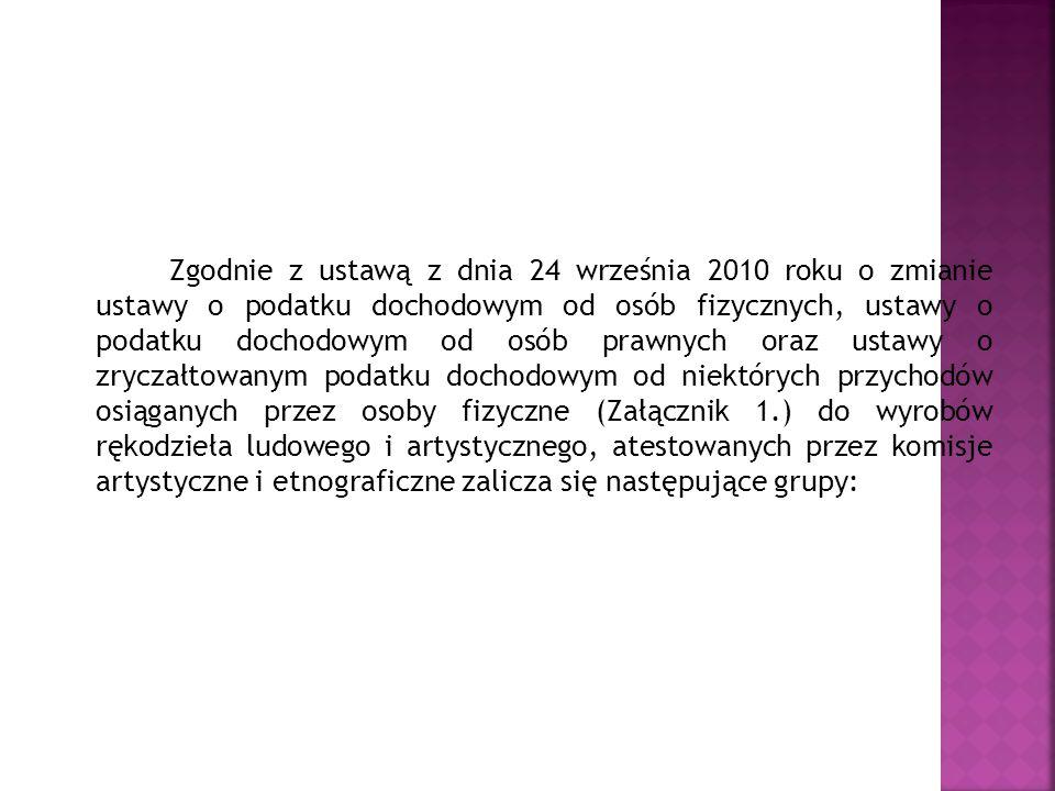 Zgodnie z ustawą z dnia 24 września 2010 roku o zmianie ustawy o podatku dochodowym od osób fizycznych, ustawy o podatku dochodowym od osób prawnych o