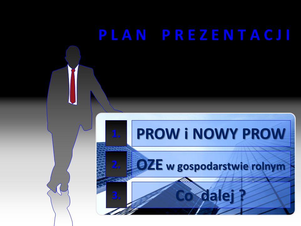 2 P L A N P R E Z E N T A C J I PROW i NOWY PROW OZE w gospodarstwie rolnym Co dalej ? 1. 2. 3.