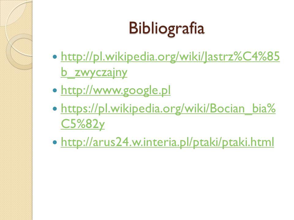 Bibliografia http://pl.wikipedia.org/wiki/Jastrz%C4%85 b_zwyczajny http://pl.wikipedia.org/wiki/Jastrz%C4%85 b_zwyczajny http://www.google.pl https://
