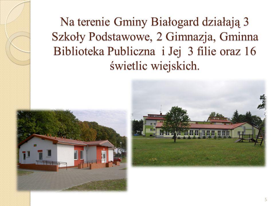 """Realizowane projekty, programy, akcje -""""Rozwój społeczeństwa informacyjnego poprzez przeciwdziałanie wykluczeniu cyfrowemu w Gminie Białogard , - """"Azbest/2013 - etap II , - """"Pomoc państwa w zakresie dożywiania - """"Rodzina Razem , - """"Pożyteczne ferie , - """"Pożyteczne wakacje - """"Polsko - niemiecki Turniej sołectw - """"Polsko - niemieckie dożynki - """"Polsko - niemieckie spotkanie nad morzem - """"Dobre prawo - sprawne rządzenie - """"Trzeźwy poranek - """"Bezpieczna droga do szkoły 26"""