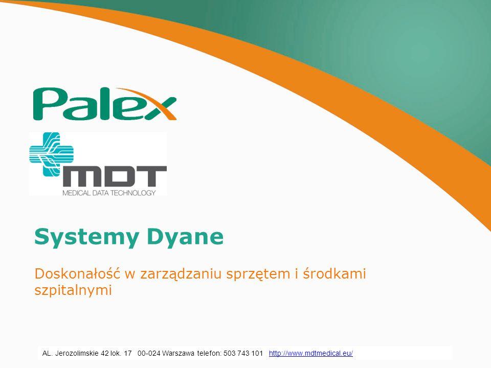 Información Privada y Confidencial propiedad de PALEX MEDICAL, S.A.U. Systemy Dyane Doskonałość w zarządzaniu sprzętem i środkami szpitalnymi AL. Jero