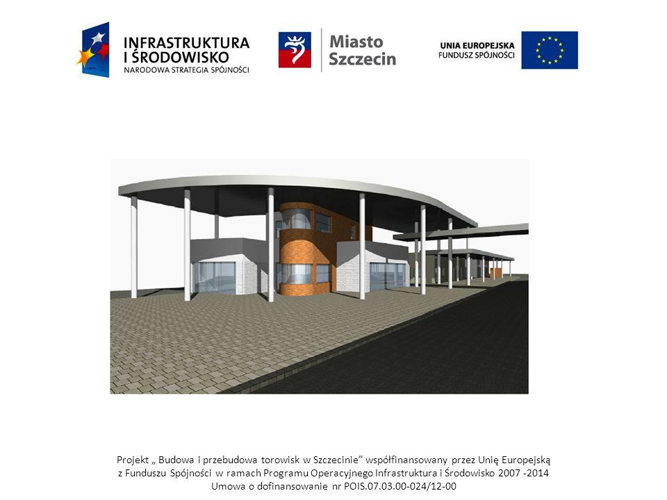 """Projekt """" Budowa i przebudowa torowisk w Szczecinie współfinansowany przez Unię Europejską z Funduszu Spójności w ramach Programu Operacyjnego Infrastruktura i Środowisko 2007 -2014 Umowa o dofinansowanie nr POIS.07.03.00-024/12-00"""