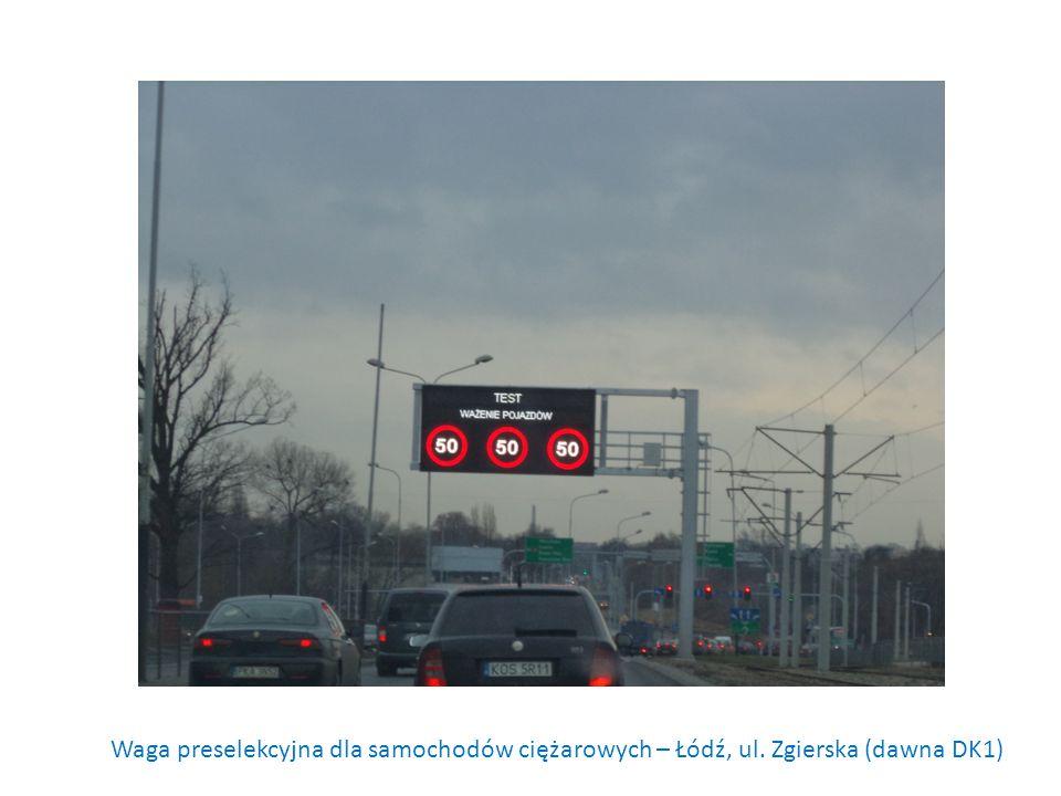 Waga preselekcyjna dla samochodów ciężarowych – Łódź, ul. Zgierska (dawna DK1)
