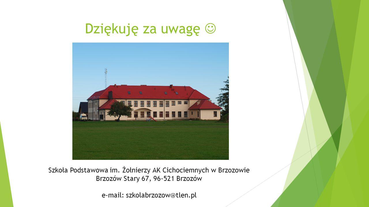 Dziękuję za uwagę Szkoła Podstawowa im.