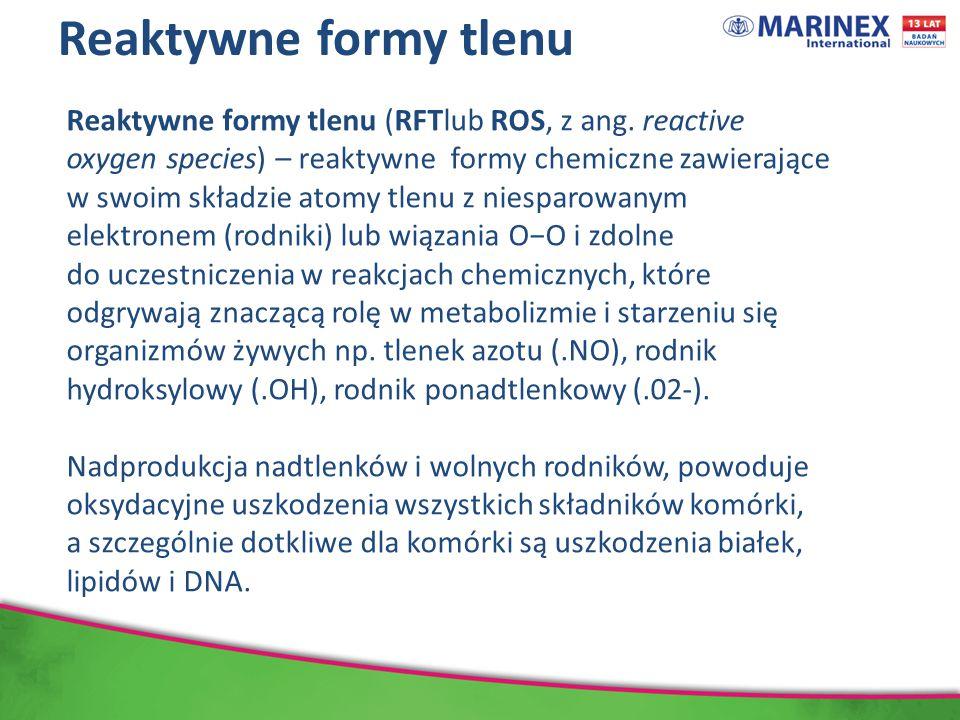Reaktywne formy tlenu Reaktywne formy tlenu (RFTlub ROS, z ang.