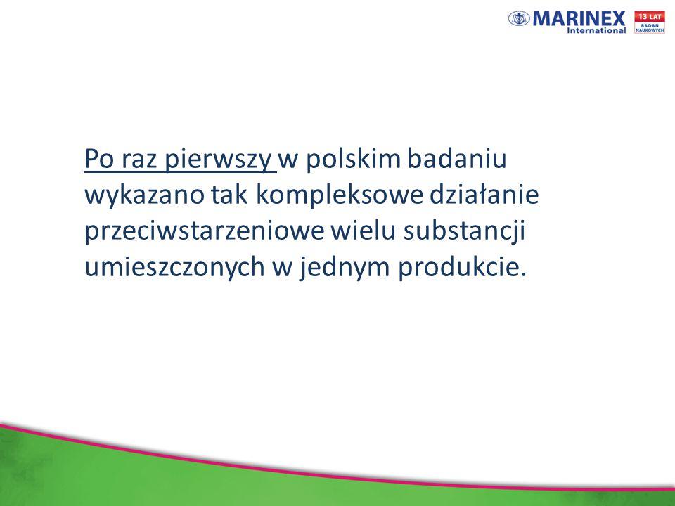 Po raz pierwszy w polskim badaniu wykazano tak kompleksowe działanie przeciwstarzeniowe wielu substancji umieszczonych w jednym produkcie.
