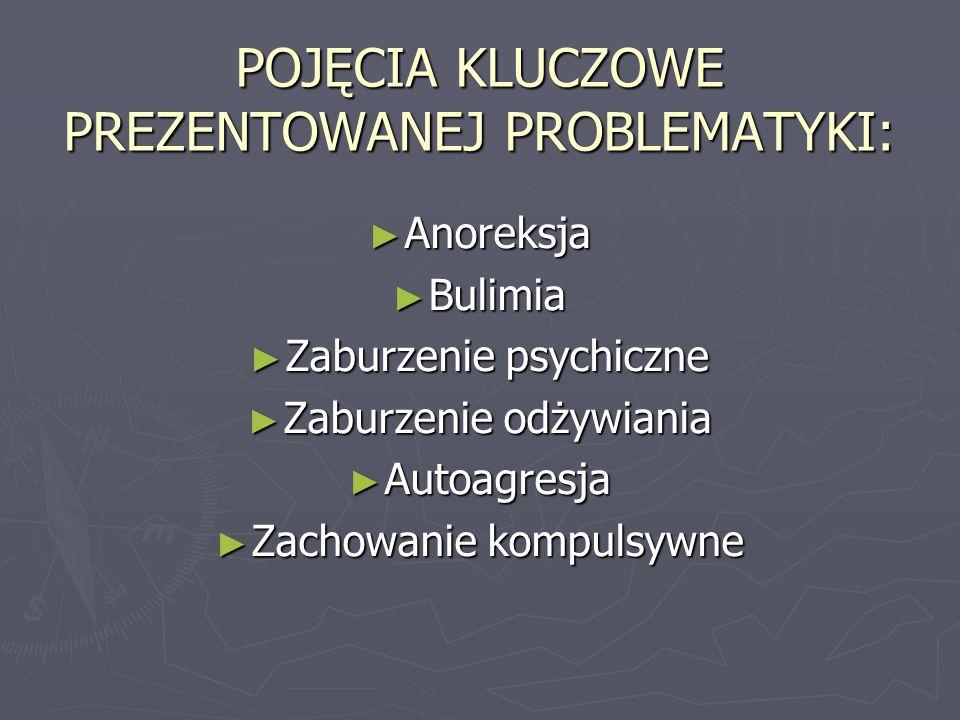 Anoreksja jest zaburzeniem łaknienia występującym na tle psychicznym, któremu towarzyszy zazwyczaj: - wychudzenie organizmu - zatrzymanie miesiączek - zaburzenia procesu trawienia (bóle brzucha, biegunki, odwodnienie).