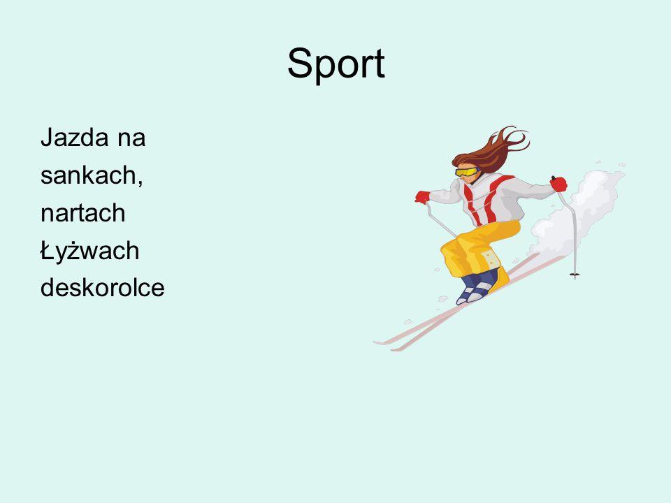 Sport Jazda na sankach, nartach Łyżwach deskorolce