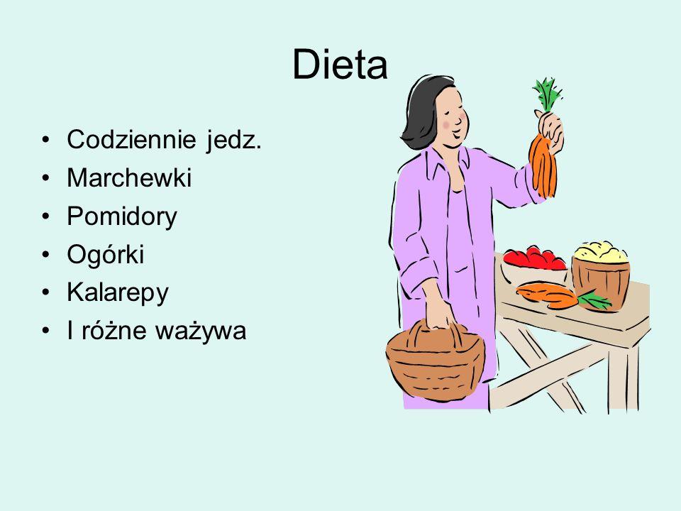 Dieta Codziennie jedz. Marchewki Pomidory Ogórki Kalarepy I różne ważywa