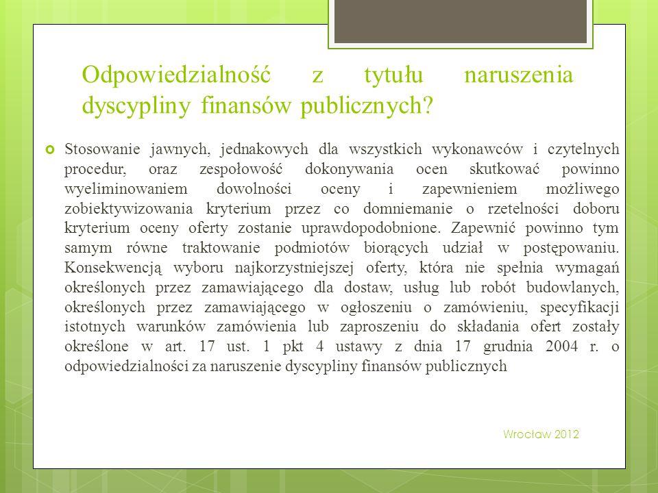 Odpowiedzialność z tytułu naruszenia dyscypliny finansów publicznych.