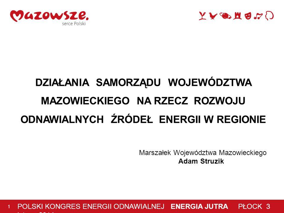 3 lutego 2014 r 2 Program możliwości wykorzystania odnawialnych źródeł energii dla Województwa Mazowieckiego kierunki rozwoju energetyki: na bazie biomasy wiatrowej wodnej na bazie wód geotermalnych słonecznej