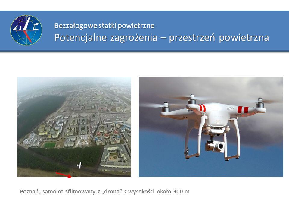 """Bezzałogowe statki powietrzne Potencjalne zagrożenia – przestrzeń powietrzna Poznań, samolot sfilmowany z """"drona"""" z wysokości około 300 m"""