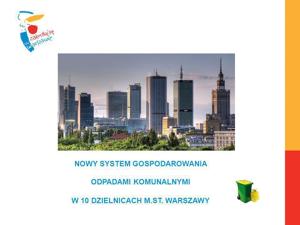 Warszawa, 6.04.2010 r. NOWY SYSTEM GOSPODAROWANIA ODPADAMI KOMUNALNYMI W 10 DZIELNICACH M.ST. WARSZAWY