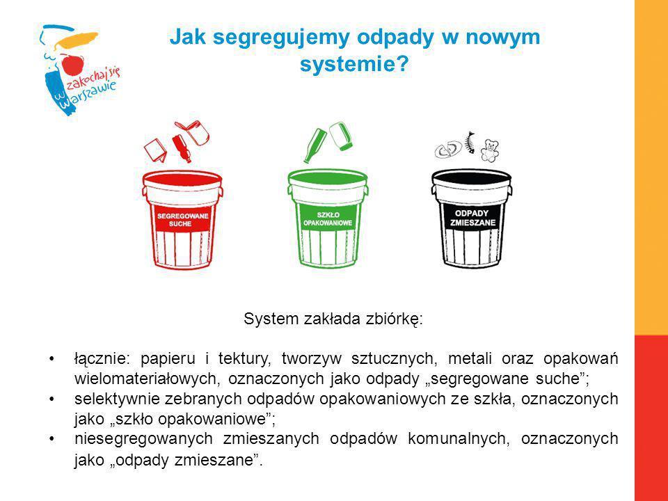 Warszawa, 6.04.2010 r. Jak segregujemy odpady w nowym systemie? System zakłada zbiórkę: łącznie: papieru i tektury, tworzyw sztucznych, metali oraz op