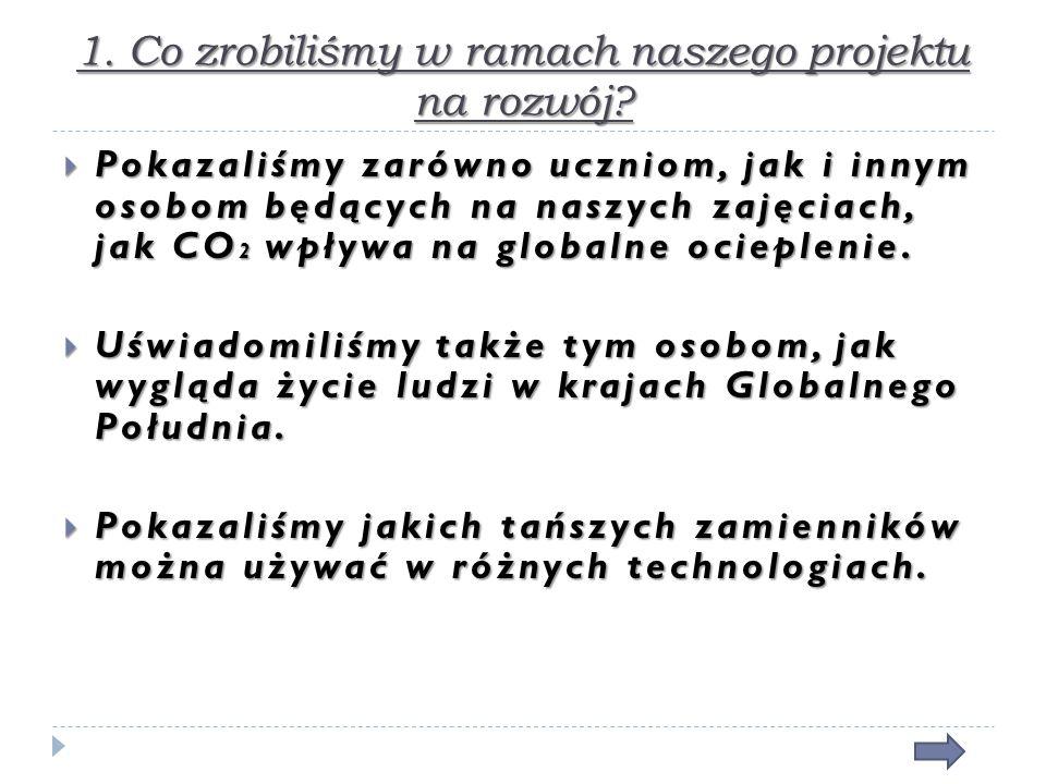 1. Co zrobiliśmy w ramach naszego projektu na rozwój.
