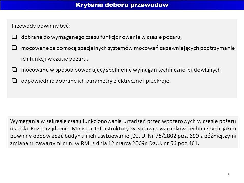 4 Przykład - rodzaje stosowanych kabli w systemie SAP