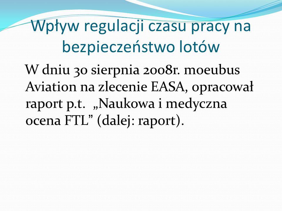 EU (FTL) Artykuł 9a Agencja regularnie dokonuje oceny skuteczności przepisów dotyczących ograniczeń czasu lotu i służby oraz wymagań dotyczącyc