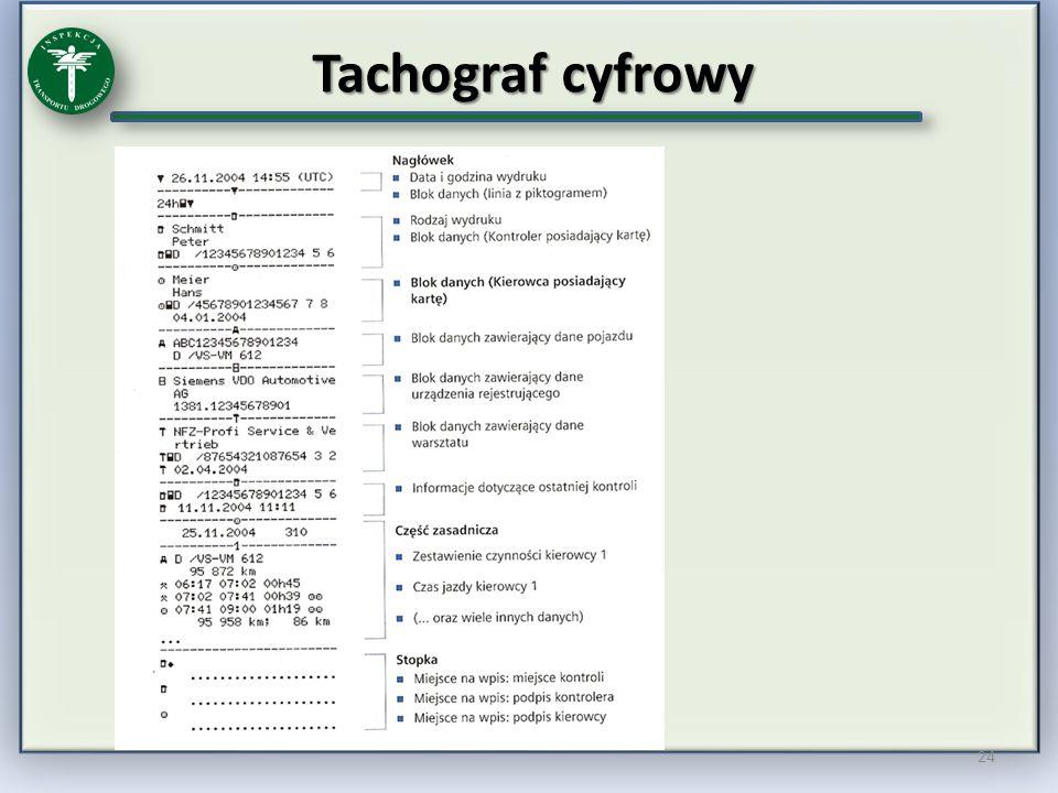 Tachograf cyfrowy 24