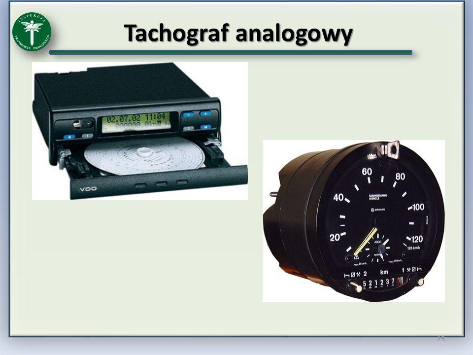Tachograf analogowy 25