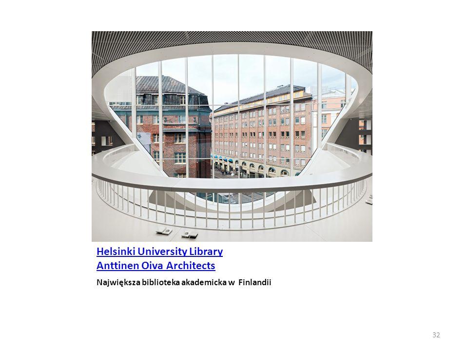Helsinki University Library Anttinen Oiva Architects Największa biblioteka akademicka w Finlandii 32