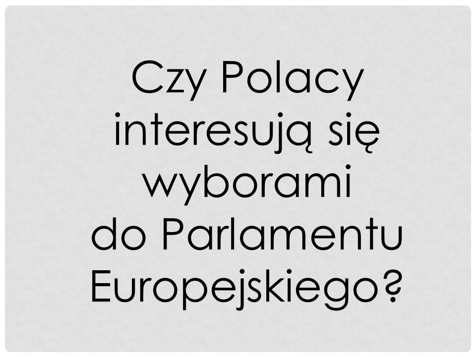 Czy Polacy interesują się wyborami do Parlamentu Europejskiego?