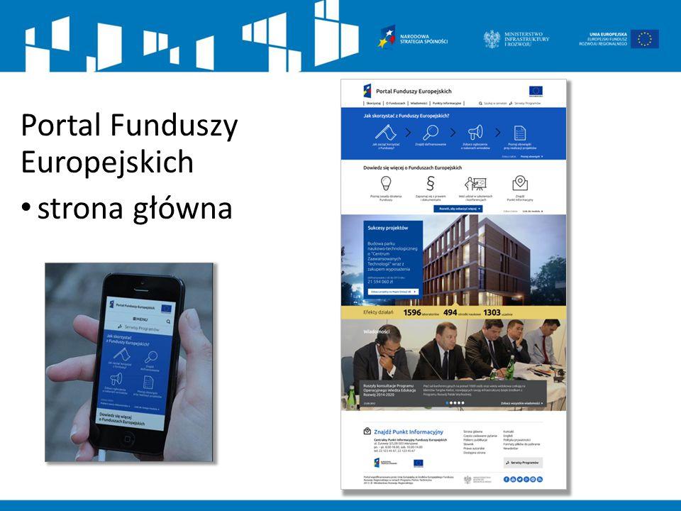 Portal Funduszy Europejskich strona główna