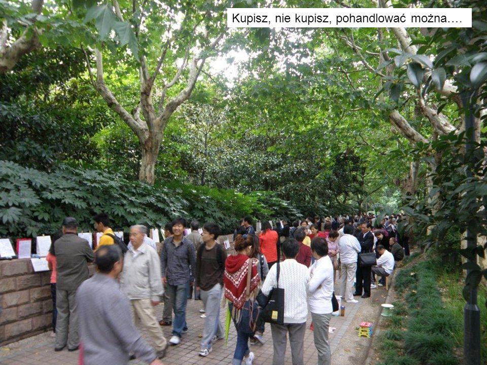 Park w centrum Szhanghaju – centrum planowania miasta