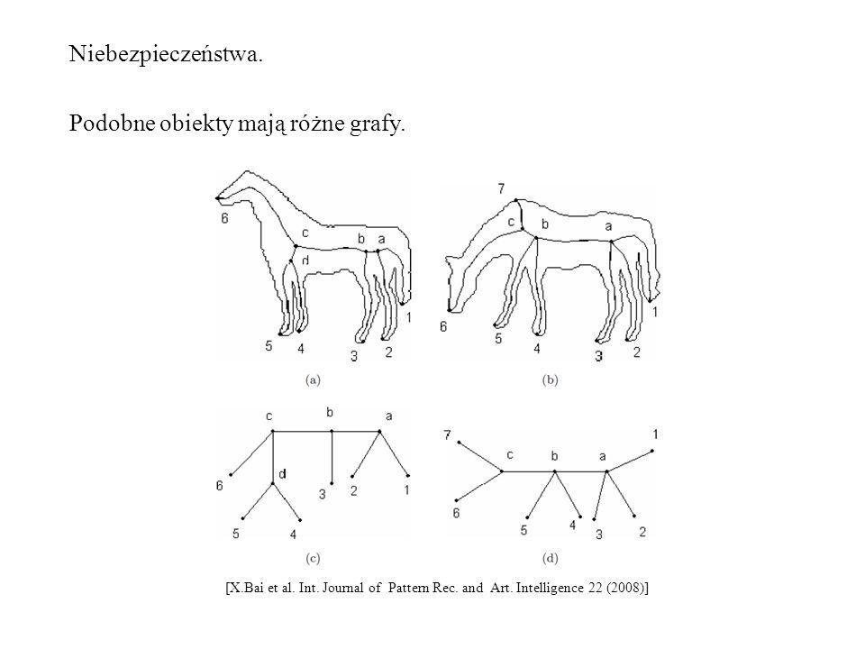 Niebezpieczeństwa. Podobne obiekty mają różne grafy. [X.Bai et al. Int. Journal of Pattern Rec. and Art. Intelligence 22 (2008)]
