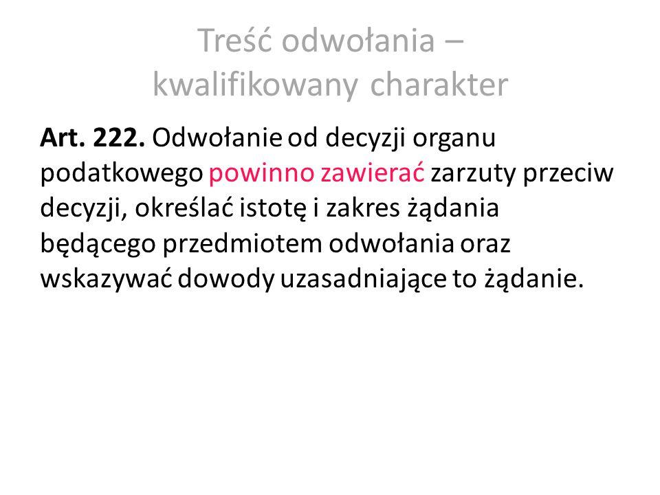 Tryb wniesienia odwołania Art.223. § 1.