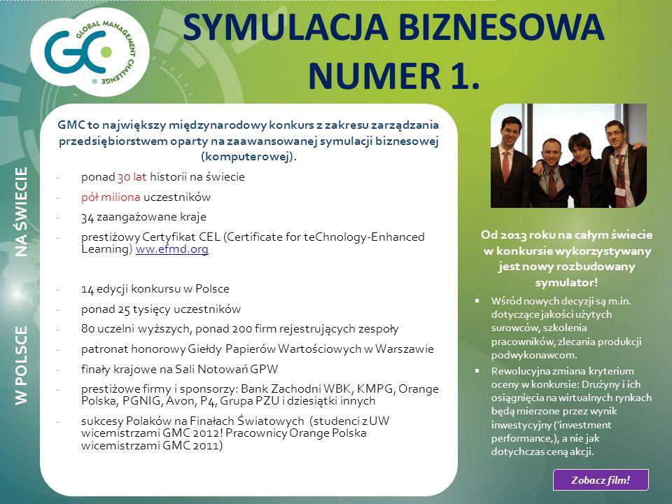 GMC to największy międzynarodowy konkurs z zakresu zarządzania przedsiębiorstwem oparty na zaawansowanej symulacji biznesowej (komputerowej).