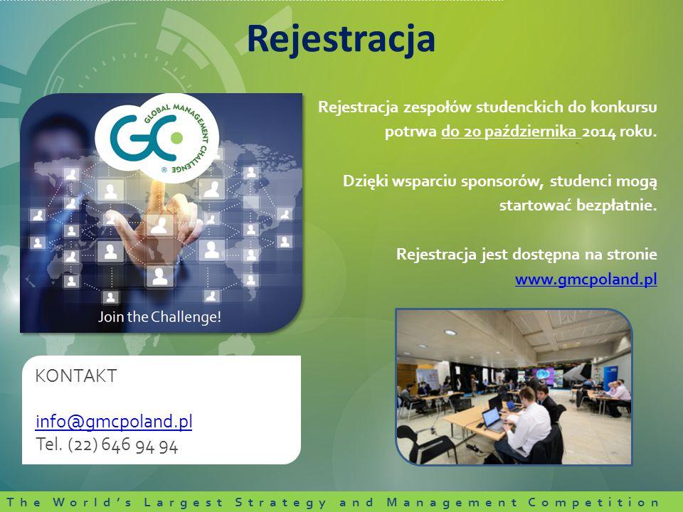 Rejestracja zespołów studenckich do konkursu potrwa do 20 października 2014 roku.