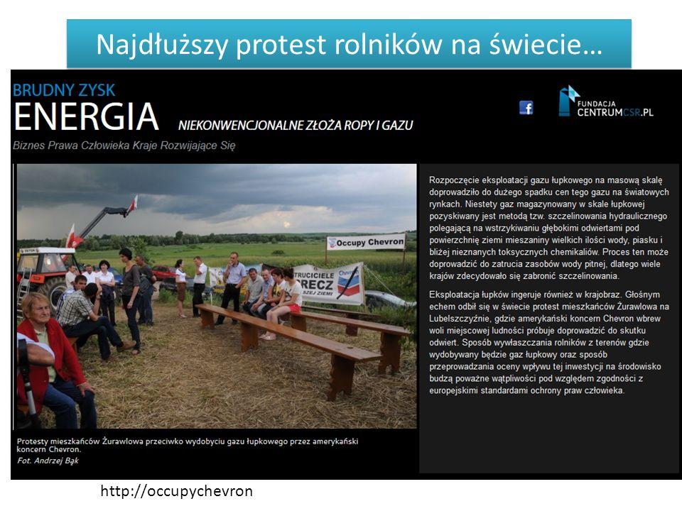 http://occupychevron Najdłuższy protest rolników na świecie…