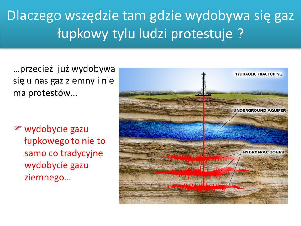 Dlaczego wszędzie tam gdzie wydobywa się gaz łupkowy tylu ludzi protestuje ? …przecież już wydobywa się u nas gaz ziemny i nie ma protestów…  wydobyc