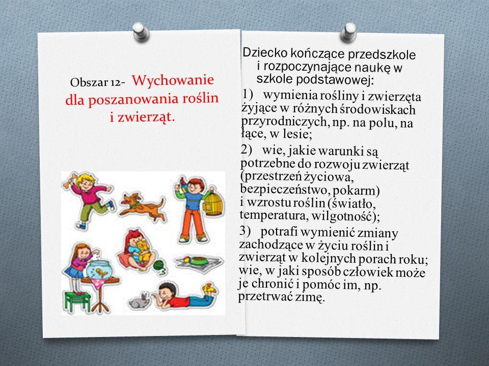 Dziecko kończące przedszkole i rozpoczynające naukę w szkole podstawowej: 1) rozpoznaje i nazywa zjawiska atmosferyczne charakterystyczne dla poszczeg