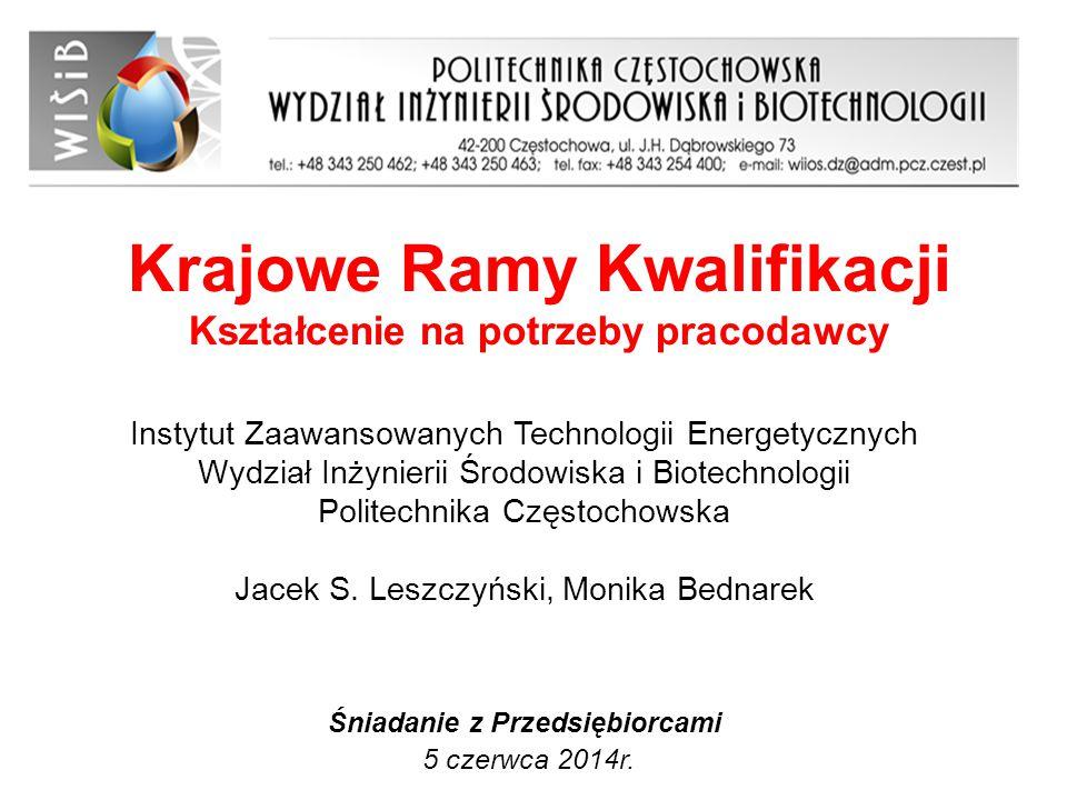 Krajowe Ramy Kwalifikacji Kształcenie na potrzeby pracodawcy Śniadanie z Przedsiębiorcami 5 czerwca 2014r. Instytut Zaawansowanych Technologii Energet