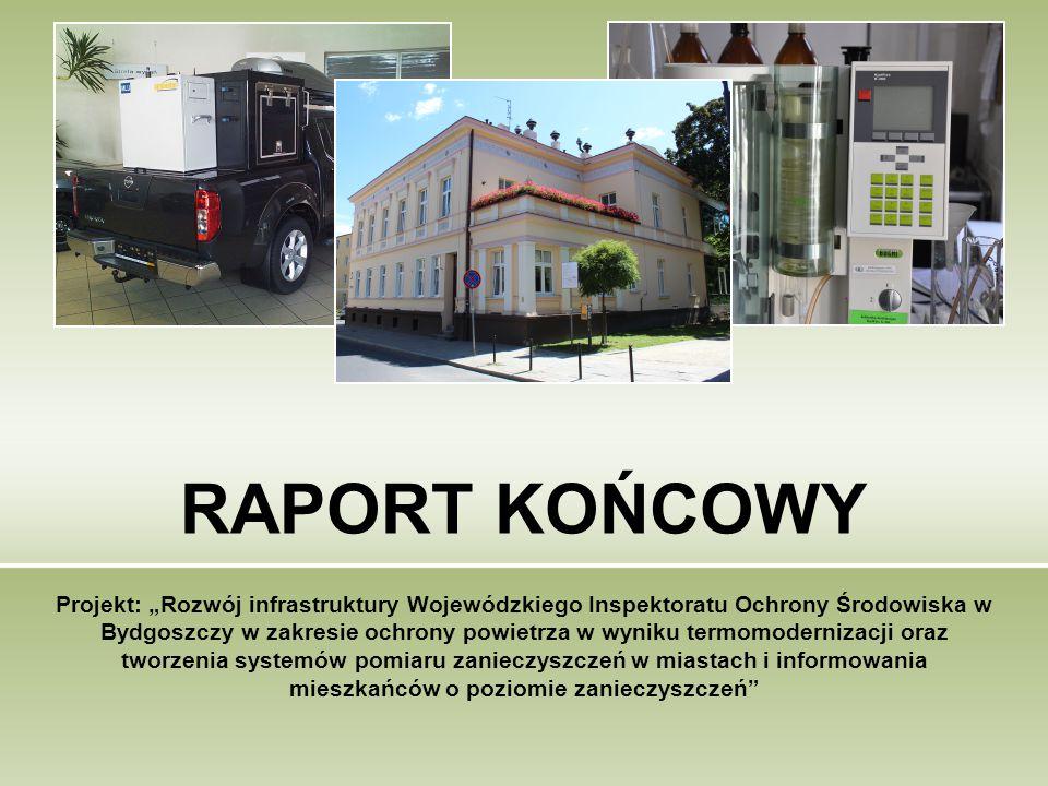 """RAPORT KOŃCOWY Projekt: """"Rozwój infrastruktury Wojewódzkiego Inspektoratu Ochrony Środowiska w Bydgoszczy w zakresie ochrony powietrza w wyniku termom"""