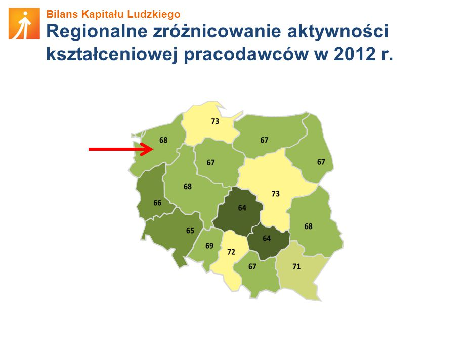 Bilans Kapitału Ludzkiego Regionalne zróżnicowanie aktywności kształceniowej pracodawców w 2012 r.