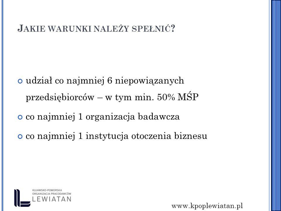 www.kpoplewiatan.pl J AKIE WARUNKI NALEŻY SPEŁNIĆ .