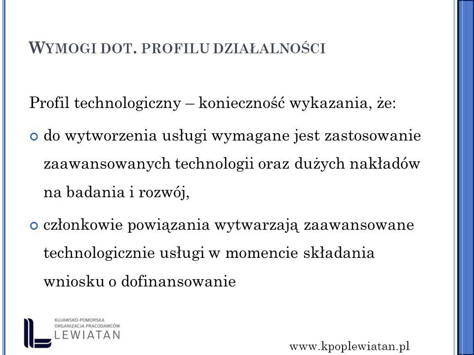 www.kpoplewiatan.pl W YMOGI DOT.